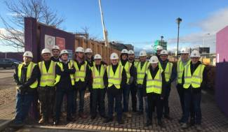 Dundee & Angus College visit Ogilvie Construction site