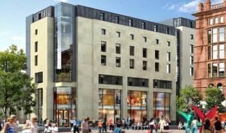 Work on new Glasgow Premier Inn underway