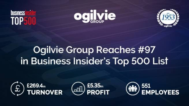 Ogilvie climbs Business Insider's Top 500 List