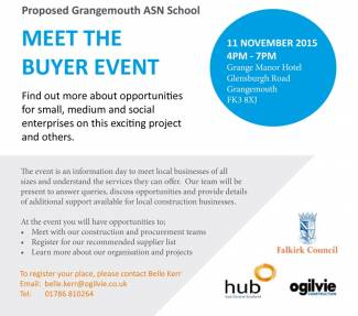 Meet The Buyer Event - Proposed Grangemouth ASN School